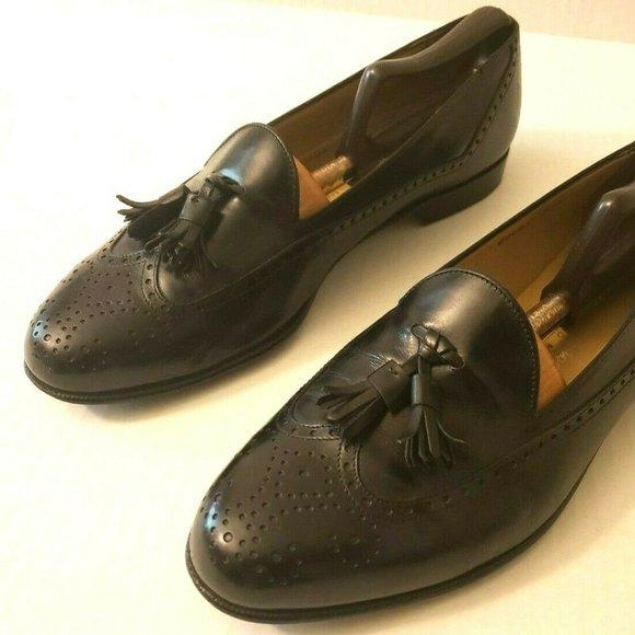 Ferragamo Studio Wing Tip Tassel Loafers 9.5D